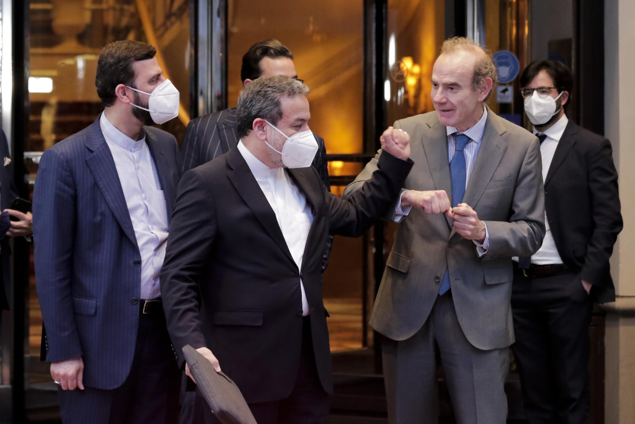 Iran nuclear talks in Vienna Abbas Araqchi & Enrique Mora