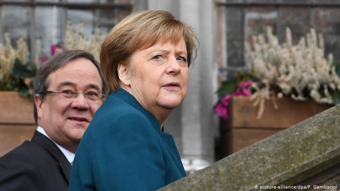آرمین لاشت آنگلا مرکل صدر اعظم آلمان / حزب دموکرات مسیحی انتخابات آلمان