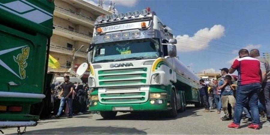 هفتمین کاروان سوخت صادراتی ایران تحویل لبنان شد