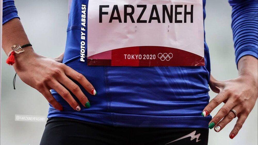 عکس | پرچم ایران روی انگشتان فرزانه فصیحی