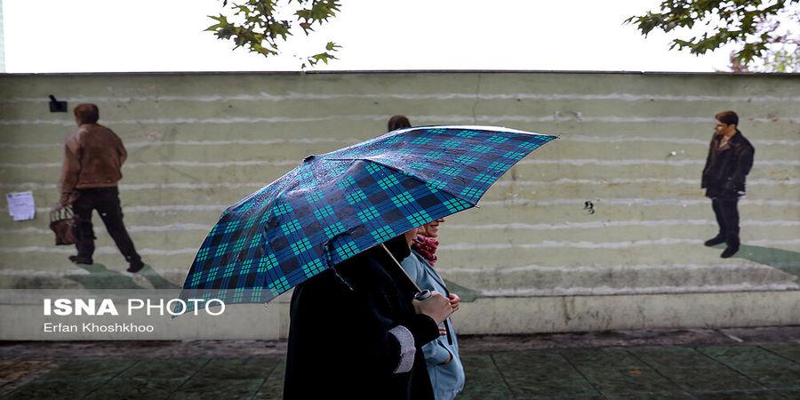 باران در برخی نقاط شمالی کشور