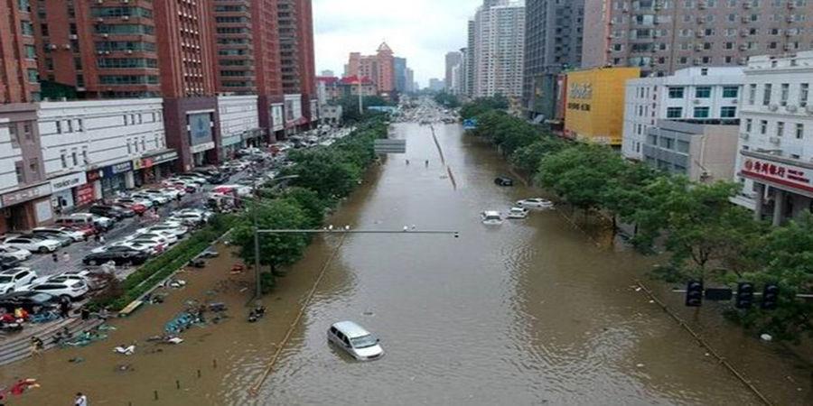 کشتههای سیل چین به 33 نفر رسید