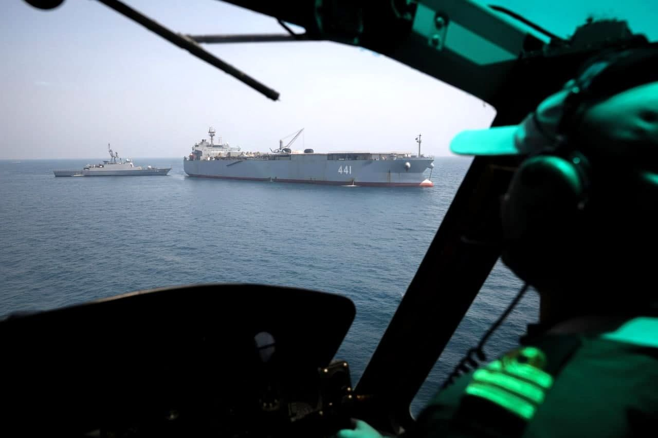 هفتادوپنجمین ناوگروه نیروی دریاییارتش به آب های سرزمینی ایران رسید