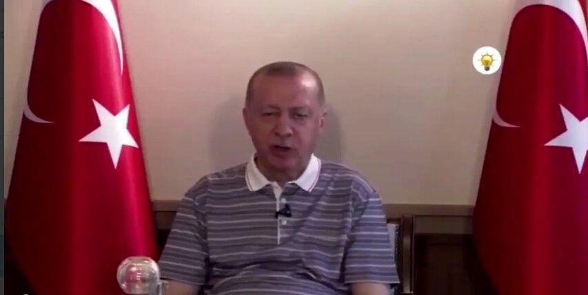 چرت زدن اردوغان حین تبریک عید قربان/عکس