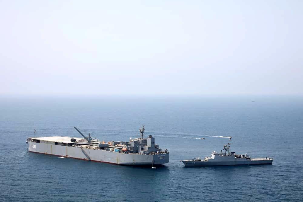 هفتادوپنحمین ناوگروه نیروی دریاییارتش به آب های سرزمینی ایران رسید