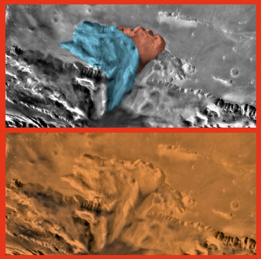 چهره ای مرموز در سطح سیاره سرخ پیدا شد