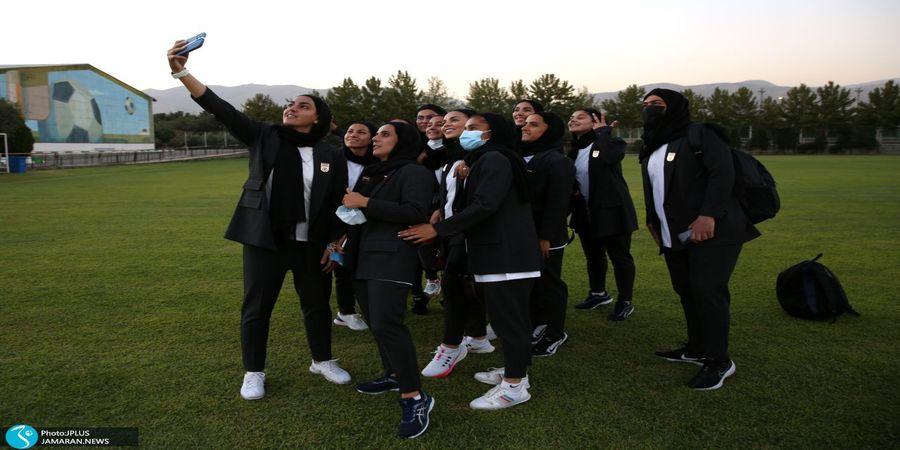 تیپ خاص با پرواز اختصاصی برای تیم ملی فوتبال زنان + گزارش تصویری