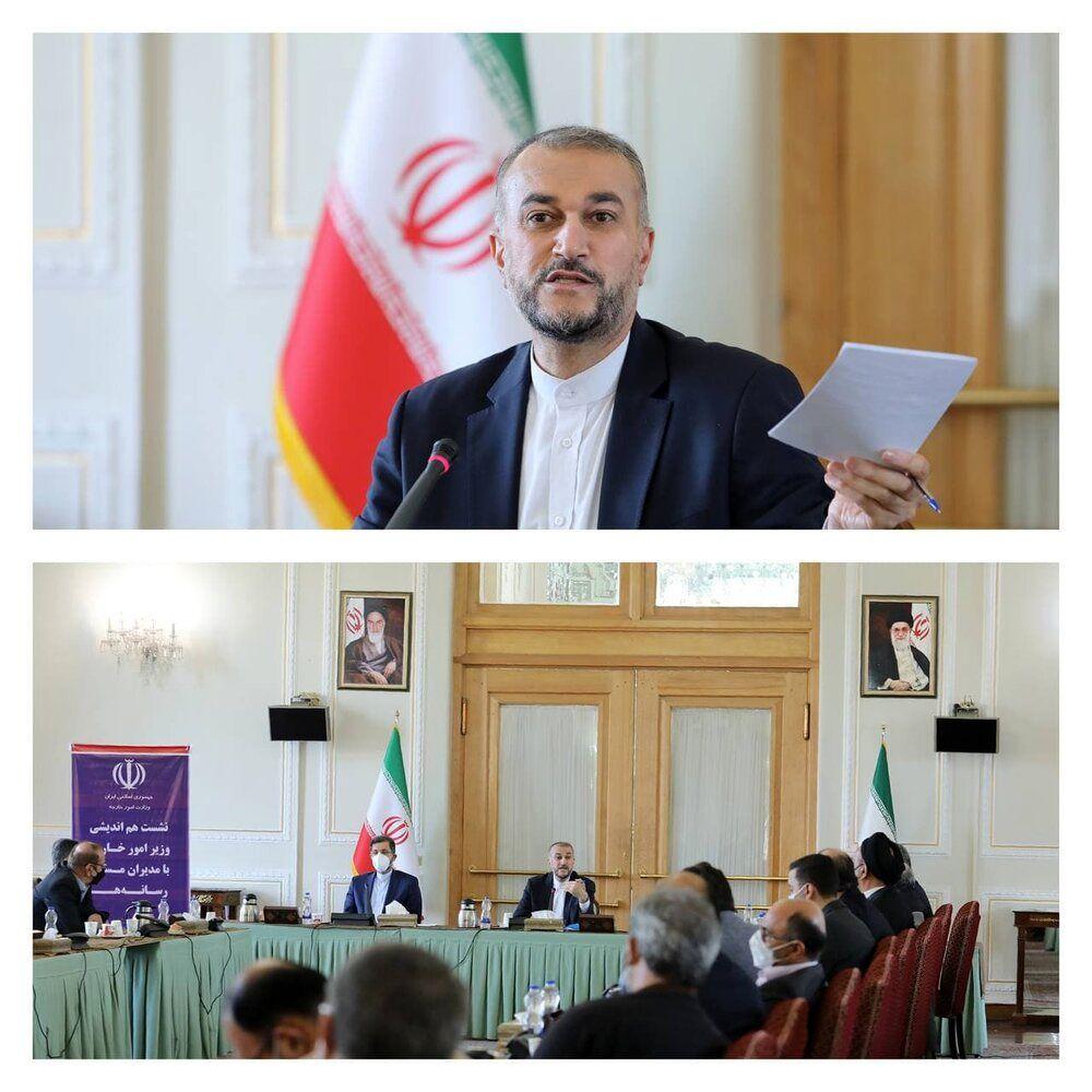 نشست امیرعبداللهیان با مدیران مسئول رسانهها/عکس