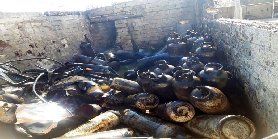 انفجارکارگاه غیرمجاز سوختگیری گاز با کپسول در شیراز