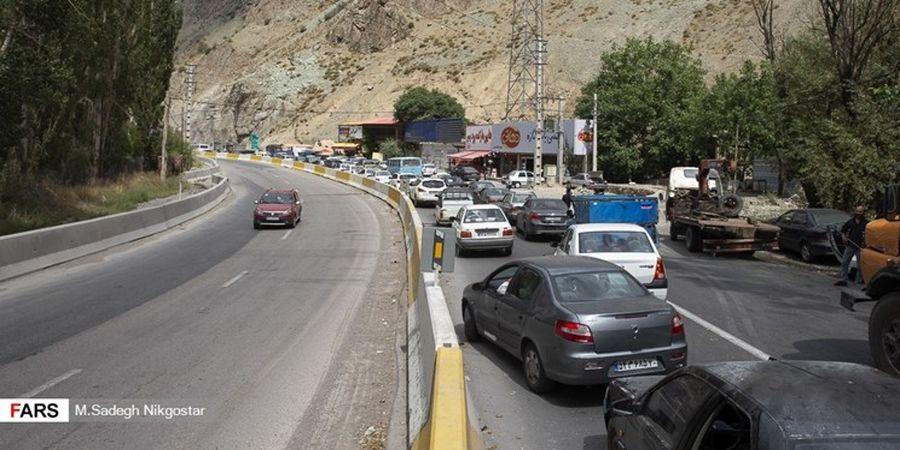 ترافیک پرحجم در محورهای هراز و کندوان