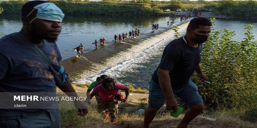 تصاویر  بلاتکلیفی پناهجویان در مرز آمریکا