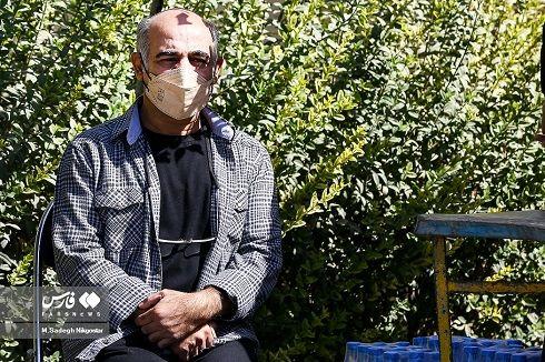 سیاوش چراغی پور در مراسم تشییع عزت الله مهرآوران