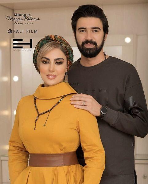 نیلوفر شهیدی و همسر