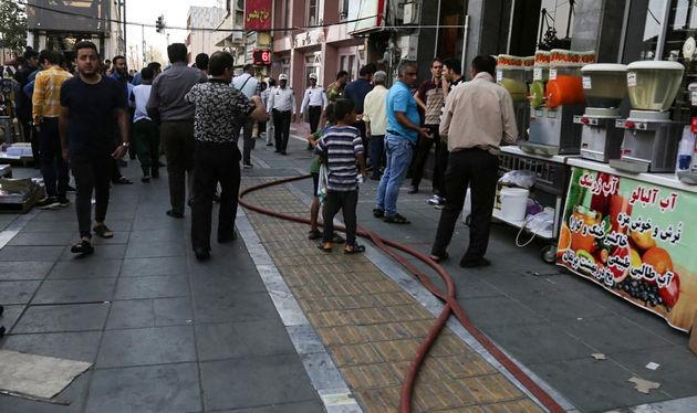 آتشسوزی چهارراه ولیعصر