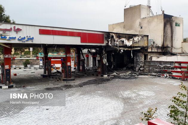 تصاویر حوادث بنزینی اخیر؛ از اعتراض تا آشوب و آسیب به اموال عمومی