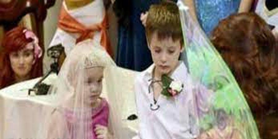 ازدواج غم انگیز دختربچه 5 ساله با پسر 6 ساله + تصاویر
