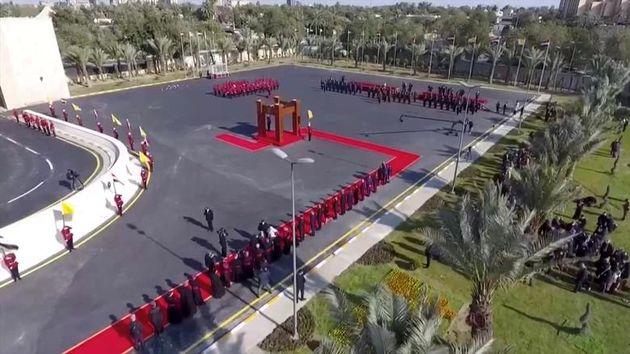 برهم_صالح_رئیس_جمهور_عراق_و_پاپ_فرانسیس_در_مراسم_استقبال_در_کاخ