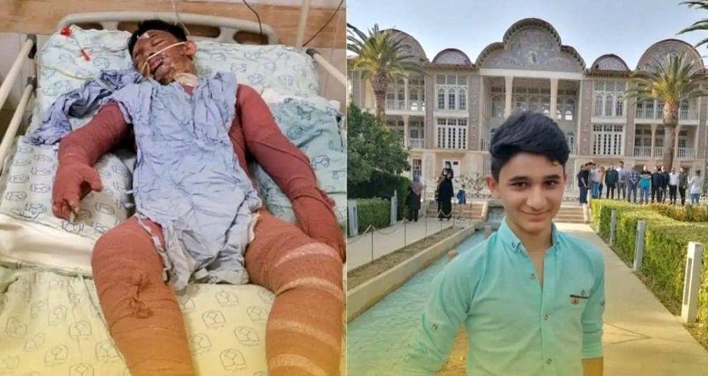 شجاعت و ایثار علی لندی، نوجوان ایذهای