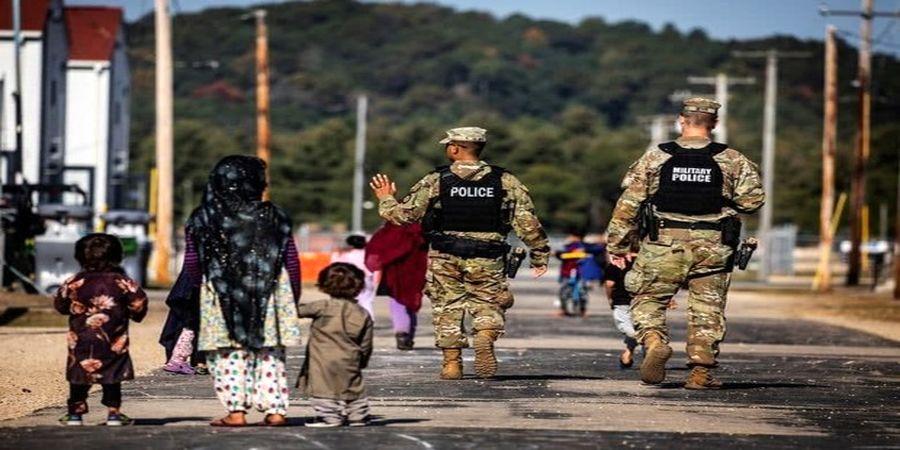 تصاویری از پناهجویان افغانستانی در آمریکا