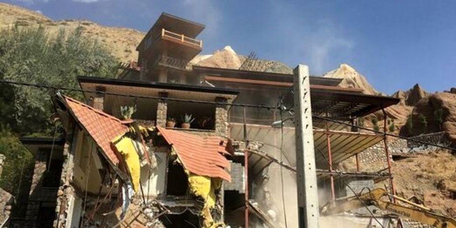 تخریب ویلای لاکچری ۲۰۰۰متری در شهریار به دستور دادستان