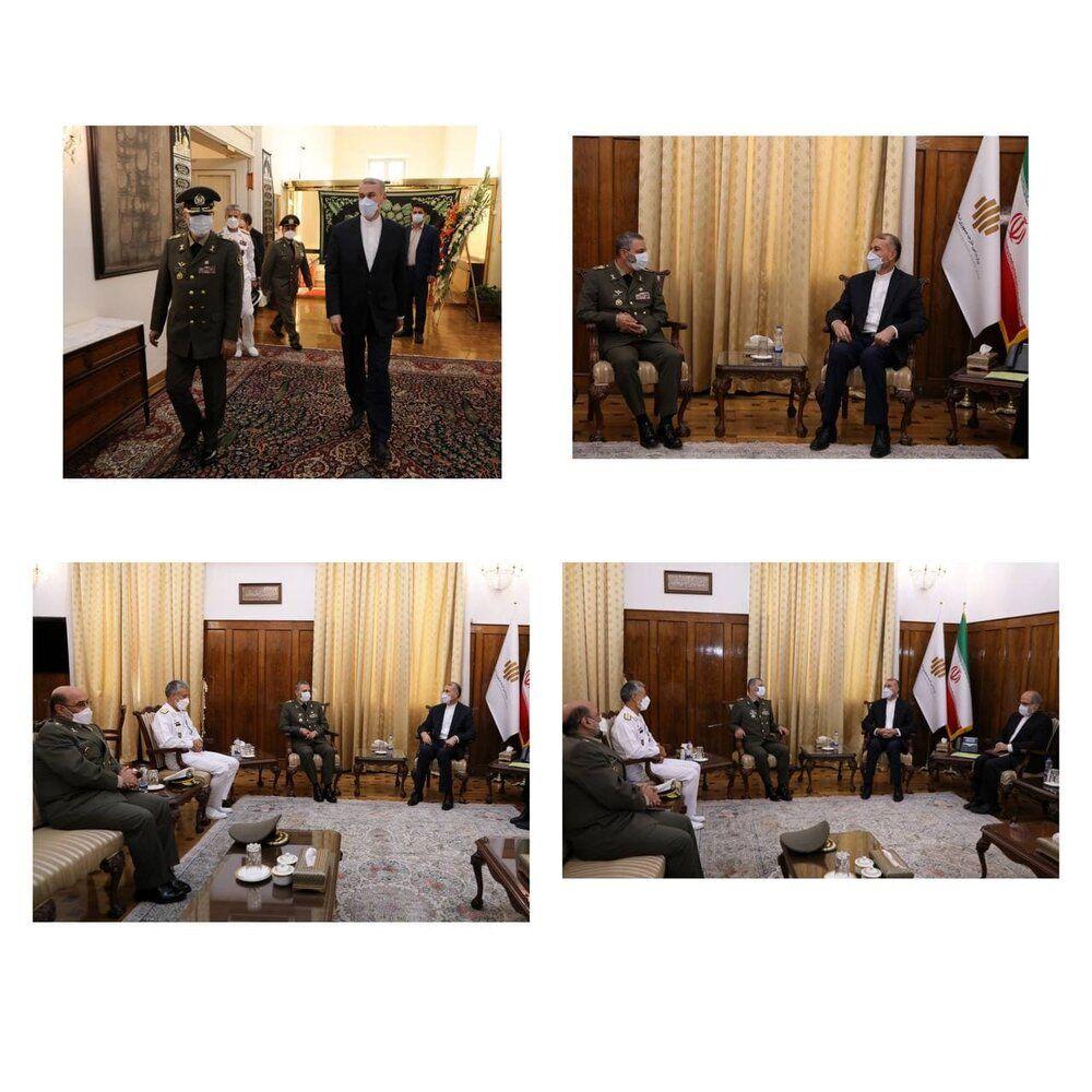 دیدار امیرعبداللهیان با فرماندهان ارشد ارتش/عکس