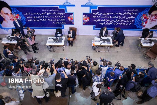 حضور سعید محمد در نخستین روز ثبت نام داوطلبان ریاست جمهوری ۱۴۰۰