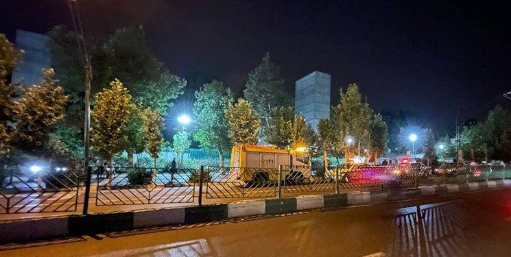 در حال بهروز رسانی  صدای انفجار در غرب تهران / پلیس در حال بررسی محدوده پارک ملت + فیلم