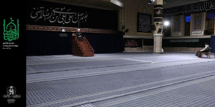 مراسم عزاداری امام رضا علیهالسلام در حضور رهبر انقلاب +عکس