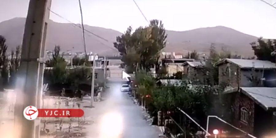 لحظه وقوع زلزله در چلگرد +فیلم