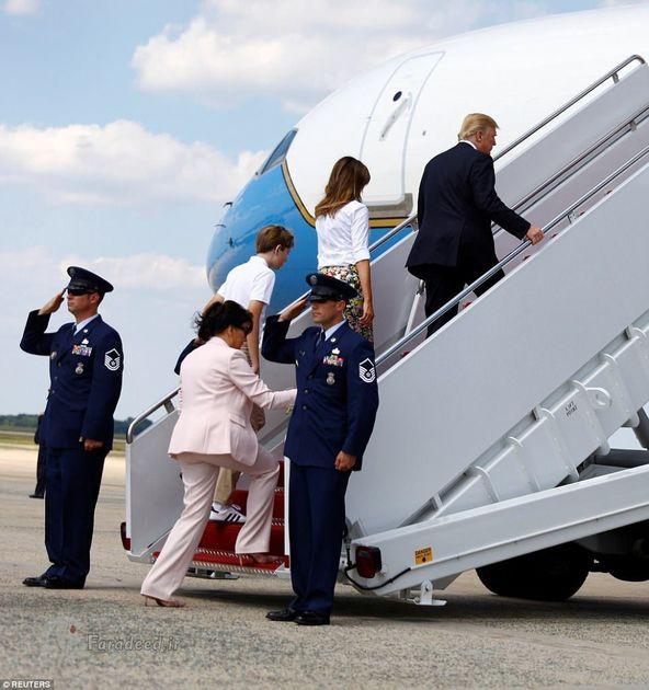 دونالد ترامپ و خانوادهاش در تعطیلات